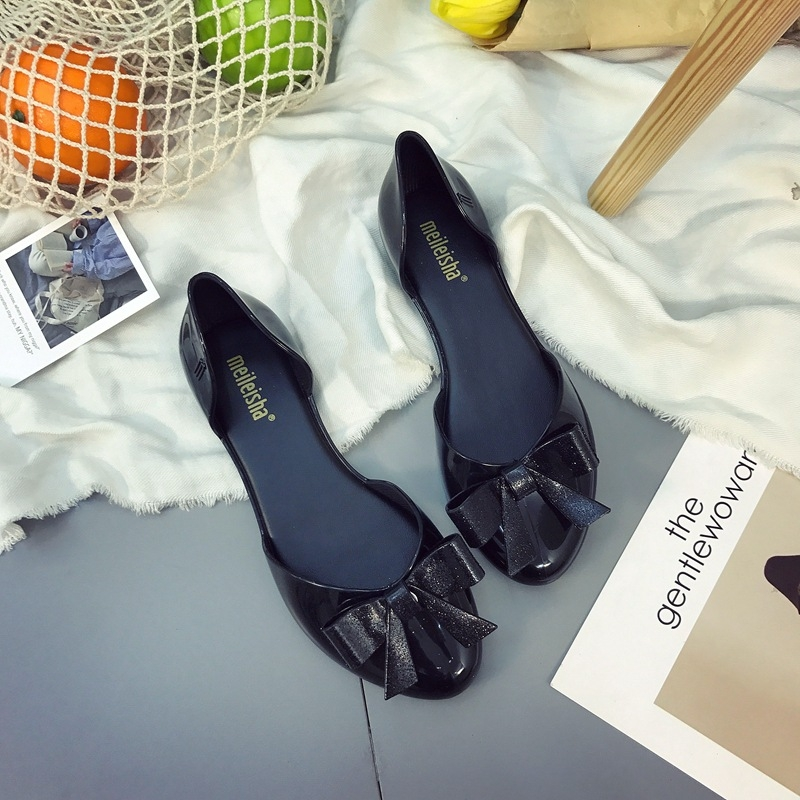 a957bc890 2018 Summer Sandals Women Casual Bowtie Shoes Fashion Jelly Shoes ...