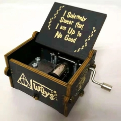 Wooden Toys Black Magic Harry Potter Music Box Gifts Music Box Gifts for Girlfriends Holiday Gifts black one size