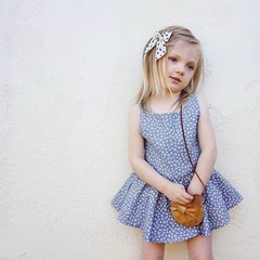 Lovely Girl Clothes Above-knee O-neck Sleeveless Dress with Cute Stars Pattern