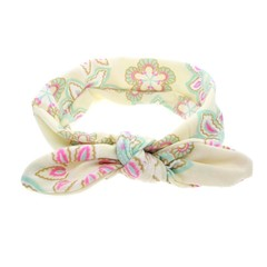 Lovely Cute Design Floral Printed Bowknot Baby Children Headband Elastic