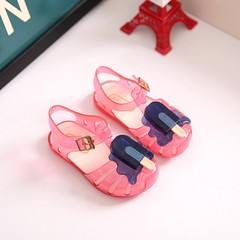 Popsicle Style Children Shoes Round Toe Hook & Loop Closure Cute and Sweet pink 21