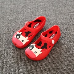 Dairy Cow Style Children Shoes Jelly Color Cute and Sweet Buckle Strap Closure