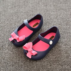 Children Shoes Bowknot Style Cute and Sweet Buckle Strap Closure Round Toe