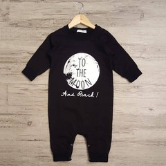 Kids Unisex Letter Printed Long Sleeve Bodysuit Romper Jumpsuit Outfits gray 80