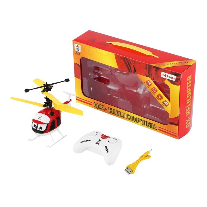 Induction Flying Toys RC Helicopter Cartoon Remote Control Drone Kid Plane Toy