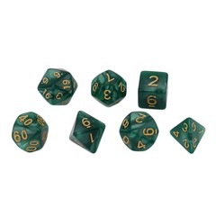 Bright Color 7 Pcs Set Creative Multi-Faceted Pearl Gemmed Acrylic Dice