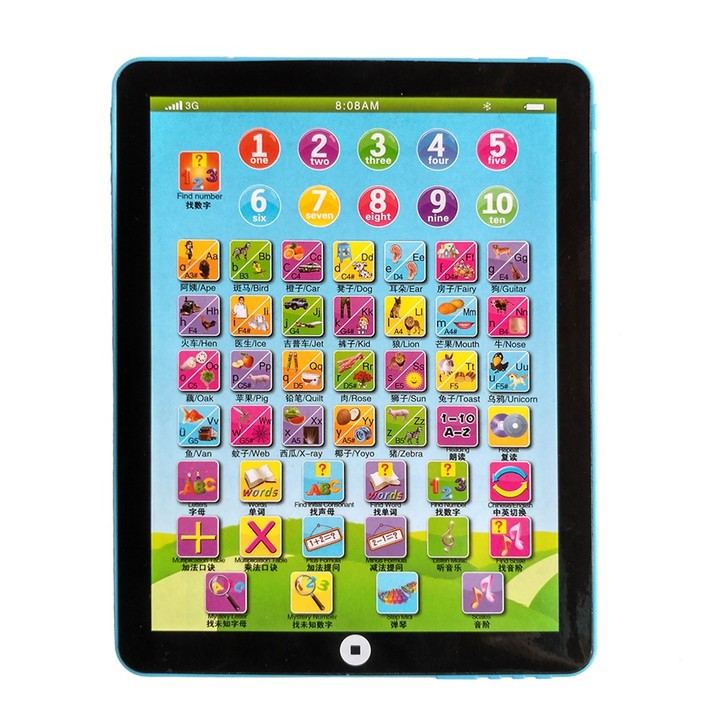 Children Learning English Tablet Portable Kids Computer Child Educational Toy