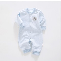 Natural Colored Cotton Infant Conjoined Clothing Unisex for 0-1 Year-Old Baby
