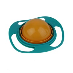 360 Degree Rotation Baby Feeding Dishes Unique Spill-Proof Dishes Gyro Bowl as picture one size