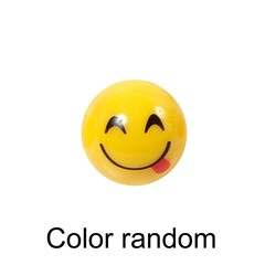 Emoji Smile Face Lighting Toy LED Color Flash Latex Ring For Party Kid Gift
