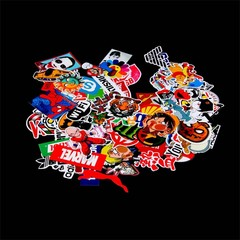 100pcs Waterproof Skateboard Longboard Vintage Vinyl Sticker Laptop Decor