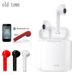 I7s tws mini bluetooth wireless earphones Portable Sport Mobile   headset pods Earpiece Charge box black one