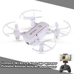 Mini RC Drone with Camera Wifi FPV Foldable Altitude Hold Quadcopter Remote Control Helicopter Toys white fixed height without camera  balck