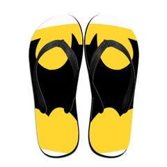 GGHOUSE Unisex Marvel Slippers Thong Sandals and Arched Support Top Flip Flap Sandals - Bat Man