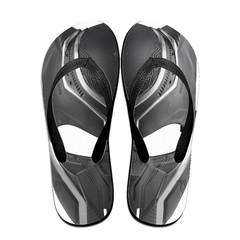 GGHOUSE Marvel Unisex Slippers Thong Sandals and Arched Support Top Flip Flap Sandals-Black Panther