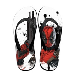 GGHOUSE Marvel Unisex Slippers Thong Sandals and Arched Support Top Flip Flap Sandals - Dead Pool