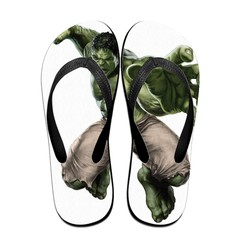 GGHOUSE Marvel Unisex Slippers Thong Sandals and Arched Support Top Flip Flap Sandals - Hulk