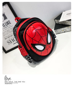 DC Spider-Man Boy's schoolbag boy's kindergarten boy captain America baby backpack cute backpack Red