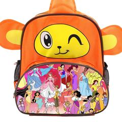 Disney All Characters Cute Kids Backpack Children's School Bag for Boys and Girls Orange Monkey disney 1