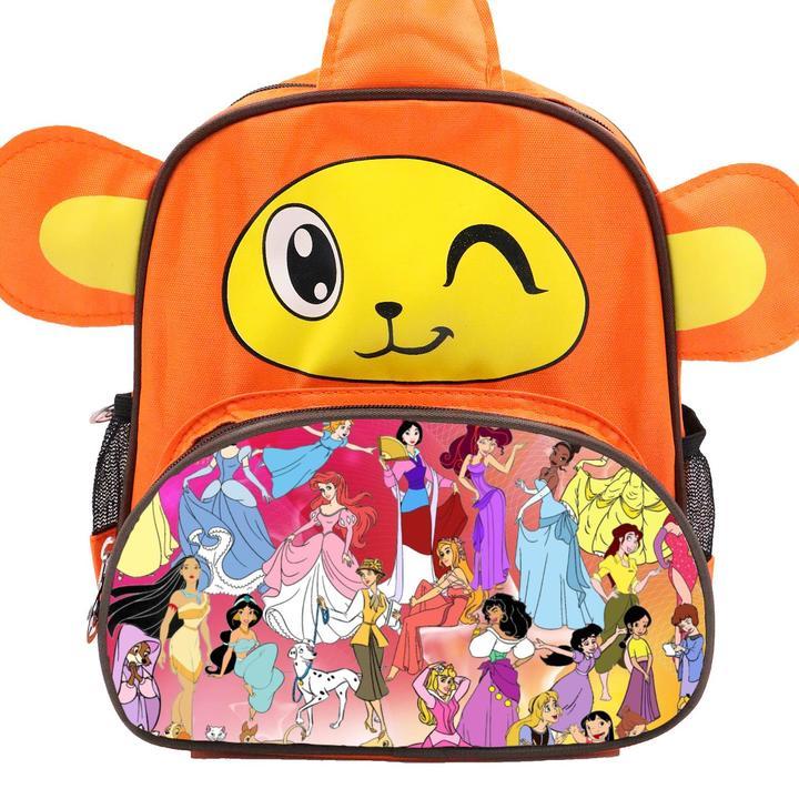 Disney All Characters Cute Kids Backpack Children's School Bag for Boys and Girls Orange Monkey disney 1