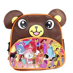 Disney All Characters Cute Kids Backpack Children's School Bag for Boys and Girls Brown Bear disney 1
