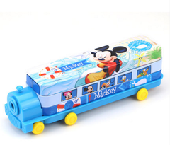 Disney Mickey children mickey pencil box primary school children kindergarten car shape pencil Mickey4