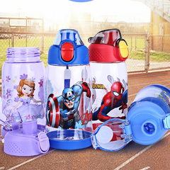 Disney children's water glass household plastic handy cup anti - dropping portable kettle