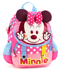 Disney kindergarten schoolbag boys and girls mickey children 1-3-5 preschool children backpack minions