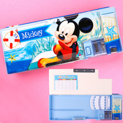 Disney mickey pencil-box schoolboy pencil-box girl cartoon plastic pencil-box pencil-bag new mickey1