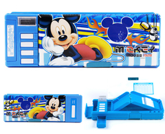 Primary school pencil-box Disney plastic double-sided boys multi-purpose pencil-box children's boys mickey1
