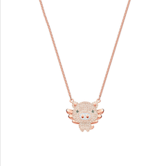 2019 pig new swarovski elements inset with diamond alloy new cute piglet flying necklace pig pig