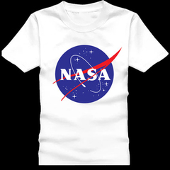 New 2018 men's NASA uniform Mars rescue woman T-shirt NASA logo shirt short sleeve leggings white 1 s 155-160 cotton