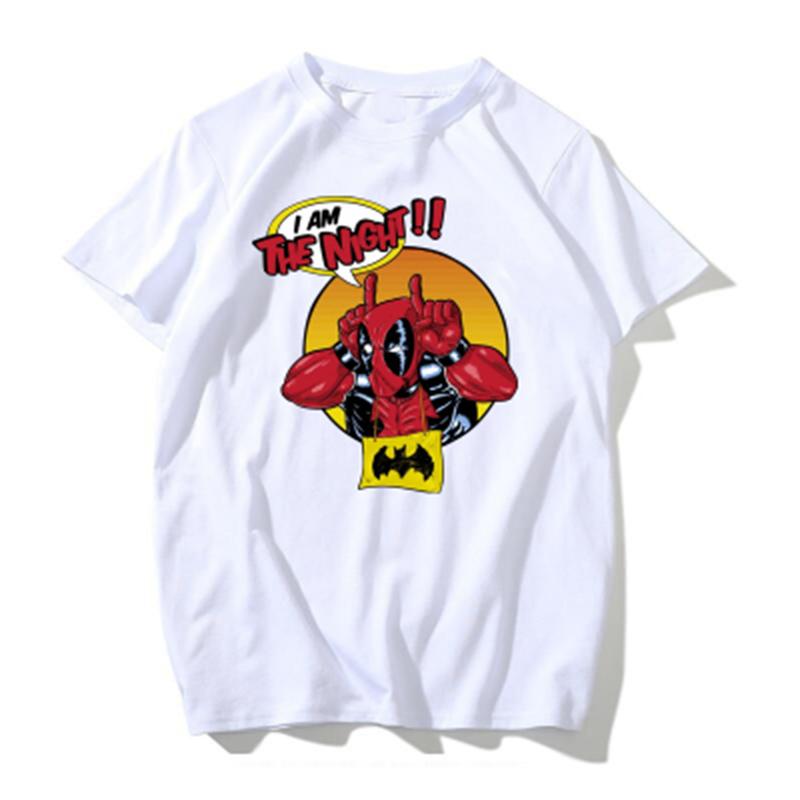 b0cfbb19f566 Disney children marvel supervillain Q Deadpool men s Short-sleeved ...