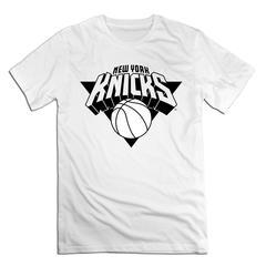 NBA New York Knicks Men T shirt with round neck short sleeves half sleeve pure cotton loose white New York Knicks1 xxxxl 185-190 cotton