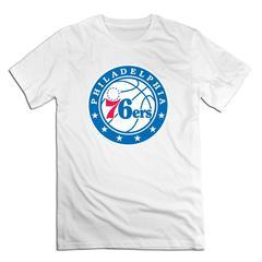 NBA Philadelphia 76ers Men T shirt with round neck short sleeves half sleeve pure cotton loose white Philadelphia 76ers1 xxxxl 185-190 cotton