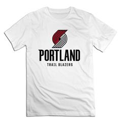 NBA Portland Trail Blazers Men T shirt with round neck short sleeves half sleeve pure cotton loose Portland Trail Blazers1 xxxxl 185-190 cotton