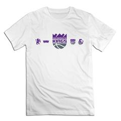 NBA Sacramento Kings Men T shirt with round neck short sleeves half sleeve pure cotton loose white Sacramento Kings1 xxxxl 185-190 cotton