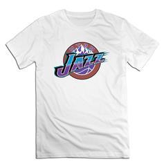 NBA Utah Jazz Men T shirt with round neck short sleeves half sleeve pure cotton loose white Utah Jazz1 xxxxl 185-190 cotton