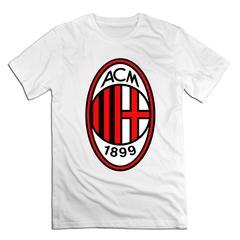 Associazione Calcio Milan Men T shirt with round neck short sleeves half sleeve pure cotton loose Associazione Calcio Milan-white xxxxl 185-190 cotton