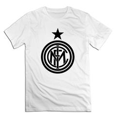 F.C Internazionale Milano Men T shirt with round neck short sleeves half sleeve pure cotton loose F.C Internazionale Milano-white 1 xxxxl 185-190 cotton