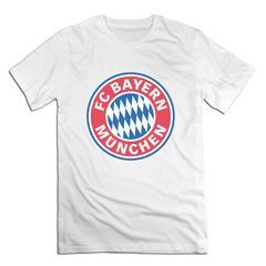 FC Bayern Munich Men T shirt with round neck short sleeves half sleeve pure cotton loose FC Bayern Munich-white 1 xxxxl 185-190 cotton