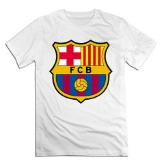 Fútbol Club Barcelona Men T shirt with round neck short sleeves half sleeve pure cotton loose Fútbol Club Barcelona-white 1 xxxxl 185-190 cotton