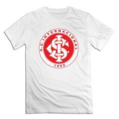 Internacional RS Men T shirt with round neck short sleeves half sleeve pure cotton loose Internacional RS-white xxxxl 185-190 cotton