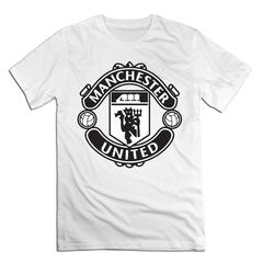 Manchester United Men T shirt with round neck short sleeves half sleeve pure cotton loose Manchester United-white1 xxxxl 185-190 cotton