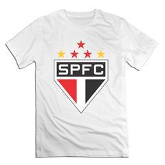 Sao Paulo Futebol Clube Men T shirt with round neck short sleeves half sleeve pure cotton loose Sao Paulo Futebol Clube-white 1 xxxxl 185-190 cotton