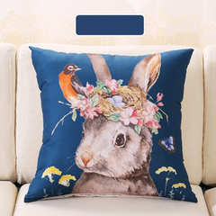 Nordic pillow sofa pillow head of a bed back car back cushion (pillow case + pillow core) 50*50 1 forest rabbit 50*50
