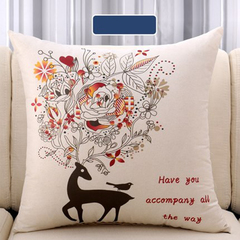Nordic pillow sofa pillow head of a bed back car back cushion (pillow case + pillow core) 45*45 1 forest rabbit 45*45