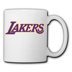 NBA Los Angeles lakers Face Glasses 11 Ounces Funny Coffee Mug Ceramic cup family milk coffee cup Los Angeles lakers1 350ml