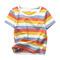 Spring summer short sleeve striped T shirt men  women children's cotton round collar T shirt 1 100cm cotton