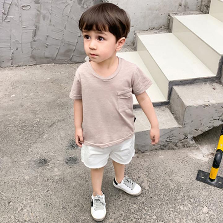 Pure cotton short-sleeved Tshirt children's wear 2019 summer new boys girls bottom shirt top fashion red-1 70cm cotton